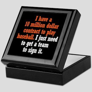 Baseball Contract Keepsake Box