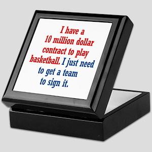 Basketball Contract Keepsake Box