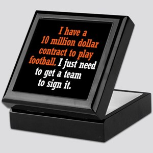 Football Contract Keepsake Box