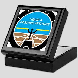 I Have a Positive Attitude Keepsake Box