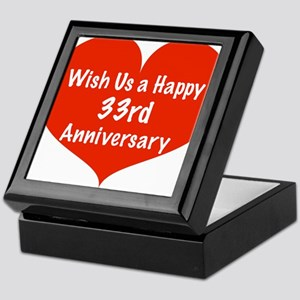 Wish us a Happy 33rd Anniversary Keepsake Box