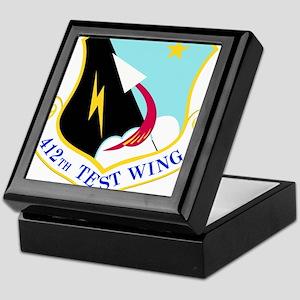 USAF Air Force 412th Test Wing Shield Keepsake Box