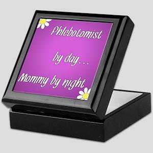 Phlebotomist by day Mommy by night Keepsake Box