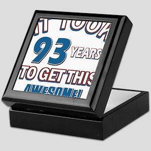 Awesome 93 year old birthday design Keepsake Box