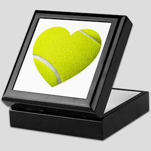 Tennis Heart Keepsake Box