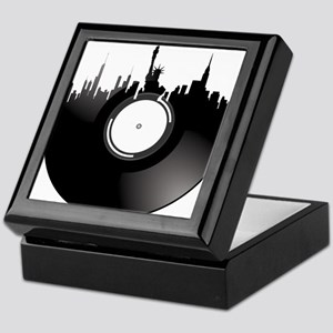 New York City Vinyl Record Keepsake Box