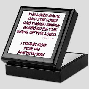 The Lord Gives... Amputee Shirt Keepsake Box