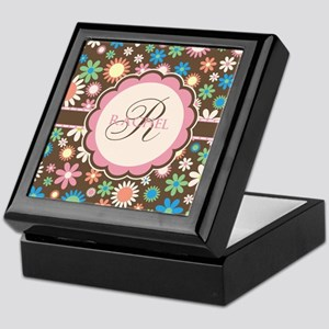 Personalized Name Flower Pattern Keepsake Box