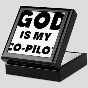 god is my co pilot Keepsake Box
