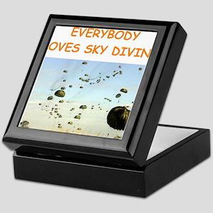 sky diving Keepsake Box