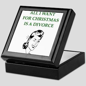 funny christmas divorce joke Keepsake Box
