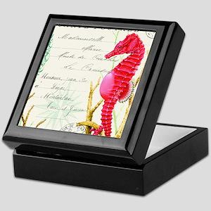 Modern vintage seahorse Keepsake Box