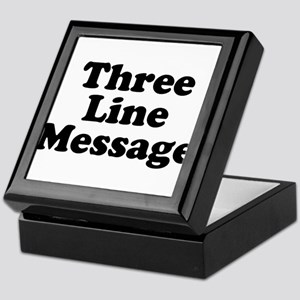 Big Three Line Message Keepsake Box