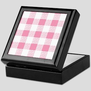 Pink Gingham Pattern Keepsake Box