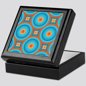Orange and Blue Mid Century Modern Keepsake Box
