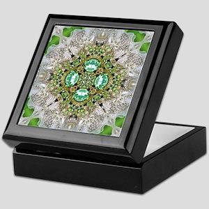 green diamond bling Keepsake Box