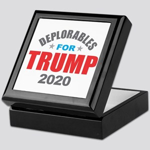 Deplorables for Trump 2020 Keepsake Box