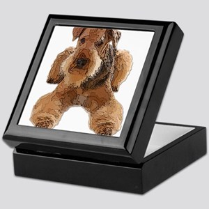 Heavily Deconstructed Vector Airedale Keepsake Box