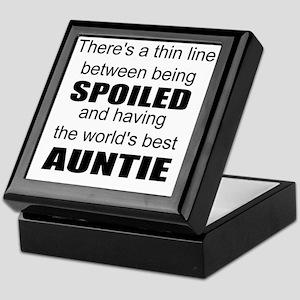 Funny auntie Keepsake Box