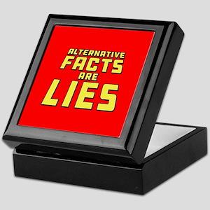 Alternative Facts Are Lies Keepsake Box
