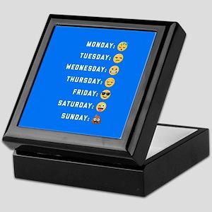Emoji Days of the Week Keepsake Box