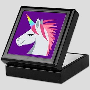 Unicorn Emoji Keepsake Box