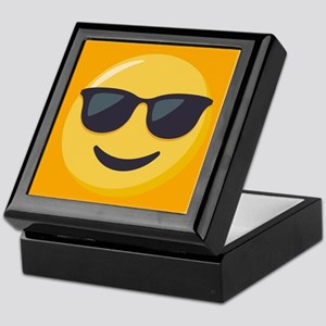Sunglasses Emoji Keepsake Box