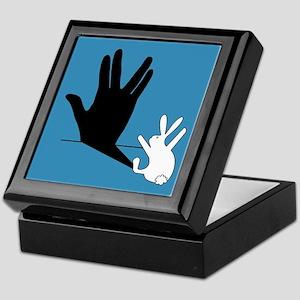 Star Trek Rabbit Vulcan Hand Shadow Keepsake Box