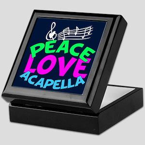 Peace Love Acapella Keepsake Box