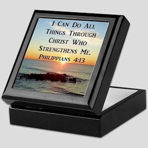 PHIL 4:13 VERSE Keepsake Box