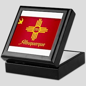 Albuquerque City Flag Keepsake Box