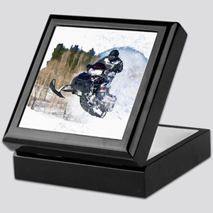 Airborne Snowmobile Keepsake Box
