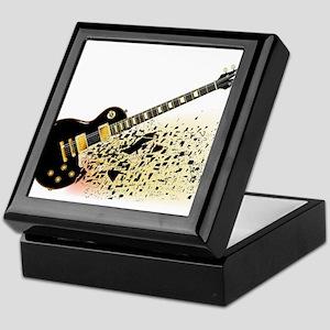 Shattering Blues Guitar Keepsake Box