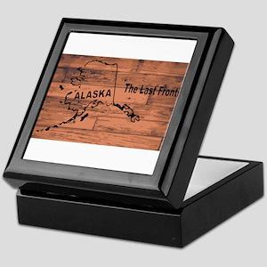 Alaska Map Brand Keepsake Box