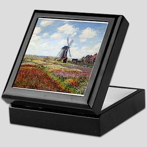 Monet Fields Of Tulip Keepsake Box