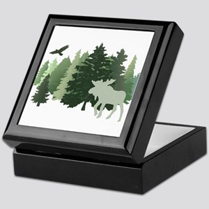 Moose in the Forest Keepsake Box