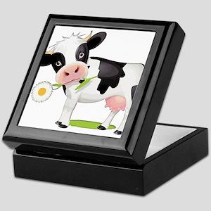 Flower Power Cow Keepsake Box