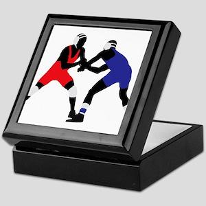 Wrestling fight art Keepsake Box