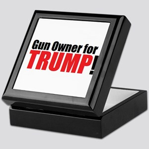 Gun Owner for TRUMP! Keepsake Box