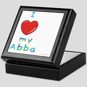I love my abba Keepsake Box