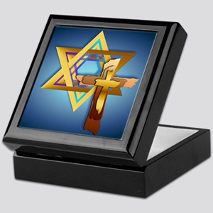 Star Of David and Triple Cross_mpad Keepsake Box