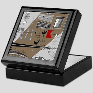 Mid-Century Modern Design Keepsake Box