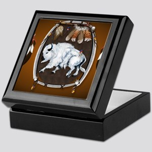 CalenderWhite Buffalo Shield 2brown Keepsake Box