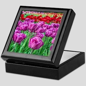 Tulip Field Keepsake Box