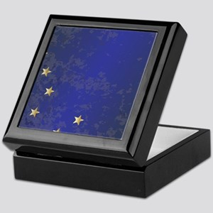 Flag of Alaska Grunge Keepsake Box