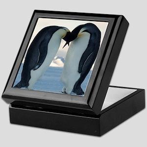 Emperor Penguin Courtship Keepsake Box