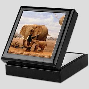 Family Of Elephants Keepsake Box