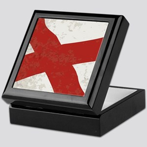 Alabama Sate Flag Grunge Keepsake Box