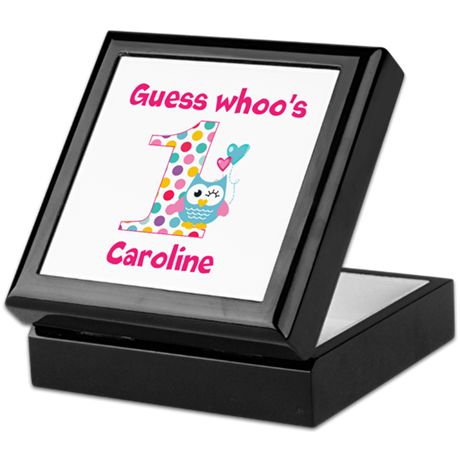 Custom guess whos 1 girl Keepsake Box