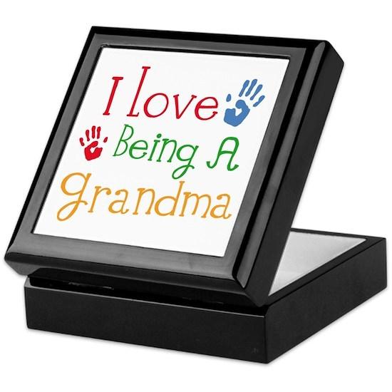 I Love Being A Grandma Keepsake Box By Homewiseshopper Cafepress